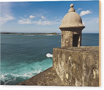 View From El Morro Fort Wood Print by George Oze