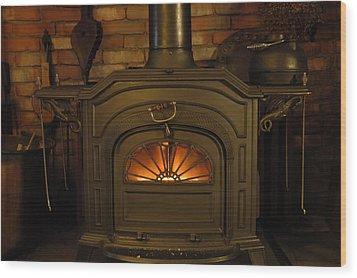 Warm And Friendly Wood Print