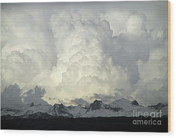 Wood Print featuring the photograph  Windriver Storm by Edward R Wisell