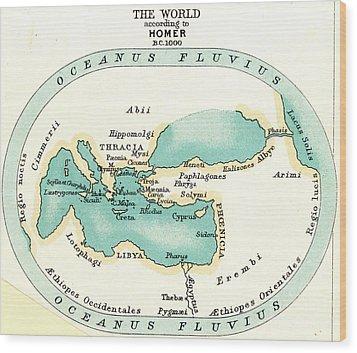 World Map, C1000 B.c Wood Print by Granger