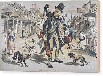 Prohibition  Cartoon, 1889 Wood Print by Granger
