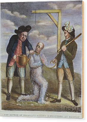 Tarring & Feathering, 1774 Wood Print by Granger