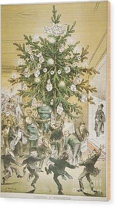 Treasury Cartoon, 1883 Wood Print by Granger