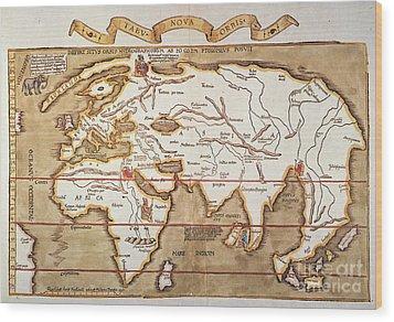 Waldseemuller: World Map Wood Print by Granger