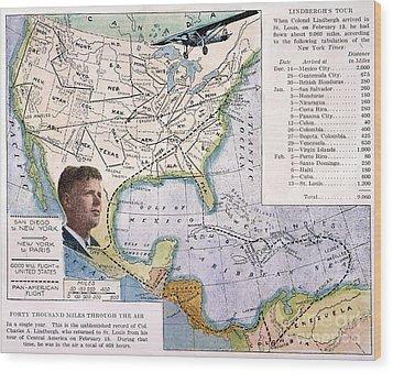 Charles Lindbergh Wood Print by Granger