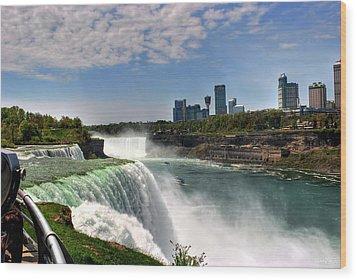 004 Niagara Falls  Wood Print by Michael Frank Jr