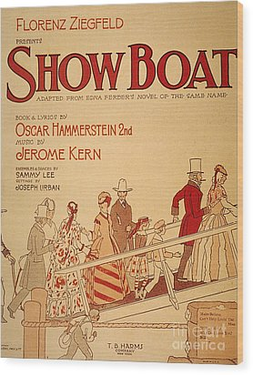 Show Boat Poster, 1927 Wood Print by Granger