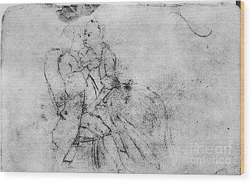 Benjamin Franklin (1706-1790) Wood Print by Granger
