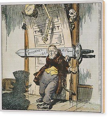 Skeletons Of Malfeasance Wood Print by Granger