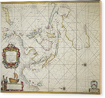Map: East Indies, 1670 Wood Print by Granger