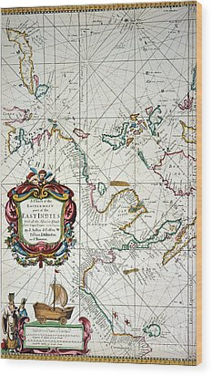 East Indies Map, 1670 Wood Print by Granger