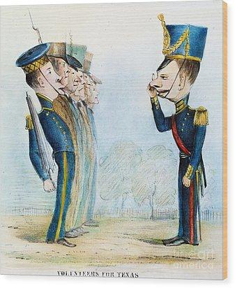 Cartoon: Mexican War, 1846 Wood Print by Granger