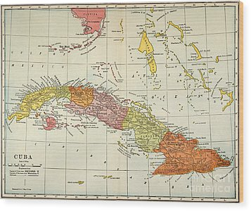 Map: Cuba, 1900 Wood Print by Granger