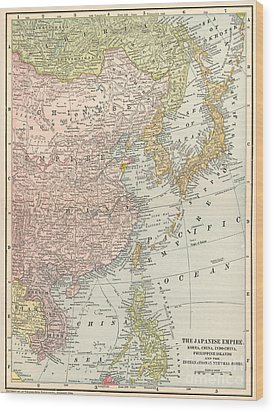 Map: East Asia, 1907 Wood Print by Granger