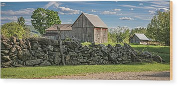#0079 - Robert's Barn, New Hampshire Wood Print