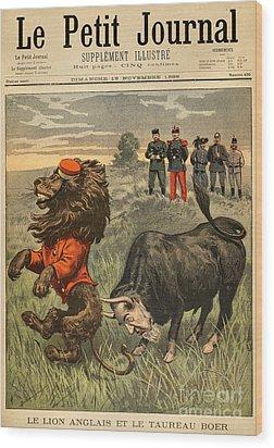 Boer War Cartoon, 1899 Wood Print by Granger