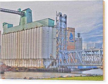 01 General Mills Wood Print by Michael Frank Jr