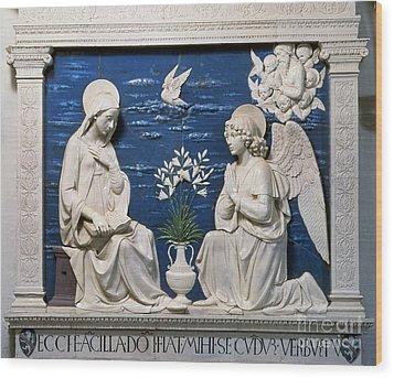Della Robbia: Annunciation Wood Print by Granger
