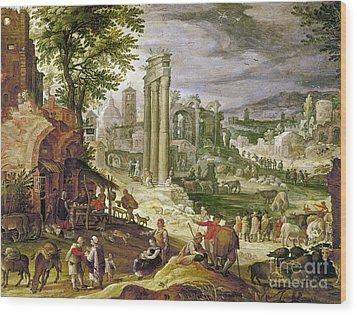 Roman Forum, 16th Century Wood Print by Granger