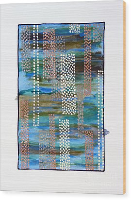 01332 Straight Wood Print by AnneKarin Glass