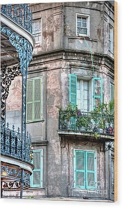0254 French Quarter 10 - New Orleans Wood Print