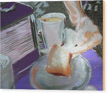 040517 Beni Gets And Coffee Wood Print