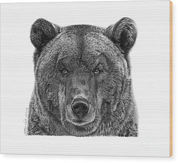 045 Papa Bear Wood Print by Abbey Noelle