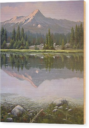 060923-2430  Reflections At Days End   Wood Print by Kenneth Shanika