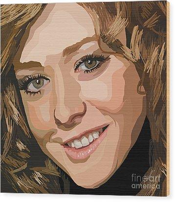 065. I Broke The Yellow Crayon Wood Print by Tam Hazlewood