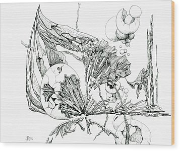 0811-27 Hatched Wood Print by Charles Cater