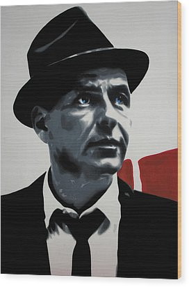 - Sinatra - Wood Print by Luis Ludzska