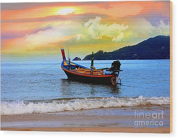Thailand Wood Print by Mark Ashkenazi