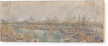 10879 Clearwater Marina Wood Print