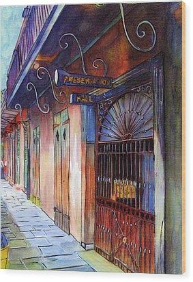 16  Preservation Hall Wood Print by John Boles