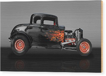 1932 Ford 5 Window Wood Print