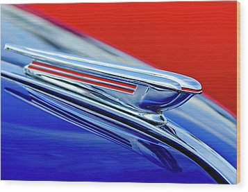 1938 Chevrolet Hood Ornament 2 Wood Print by Jill Reger