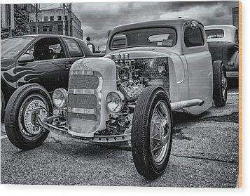 1948 Mercury Pickup Hot Rod Wood Print by Ken Morris