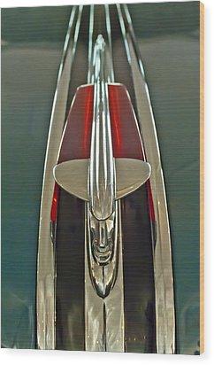 1948 Pontiac Chief Hood Ornament Wood Print by Jill Reger