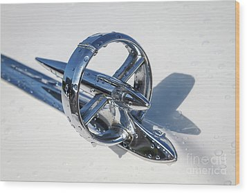 Wood Print featuring the photograph 1953 Buick Hood Ornament by Dennis Hedberg