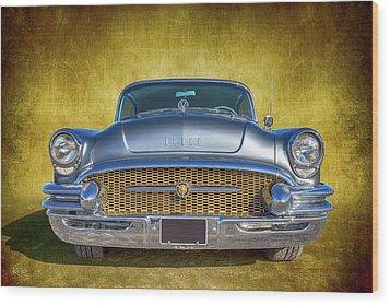 1955 Buick Wood Print by Keith Hawley