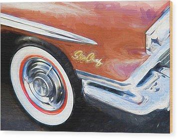 1958 Pontiac Star Chief  Wood Print by Rich Franco