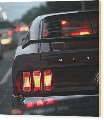 Wood Print featuring the photograph 1969 Ford Mustang Mach 1 by Gordon Dean II