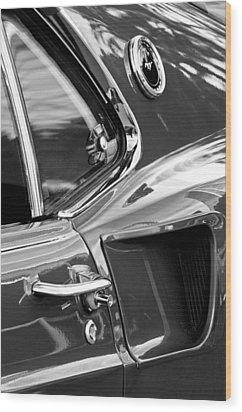 1969 Ford Mustang Mach 1 Side Scoop Wood Print by Jill Reger