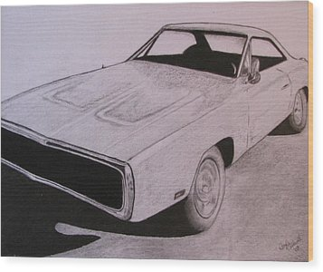 1970 Dodge Charger Wood Print by Gayle Caldwell