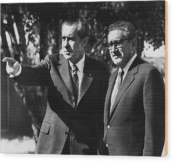 1972 Us Presidency, Cabinet.  Us Wood Print by Everett