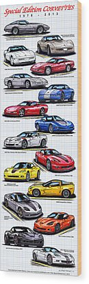 1978 - 2011 Special Edition Corvettes Wood Print by K Scott Teeters