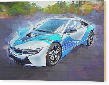 2015 Bmw I8 Hybrid Sports Car Wood Print by Rich Franco