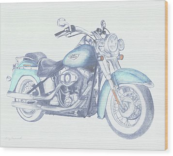 2015 Softail Wood Print by Terry Frederick