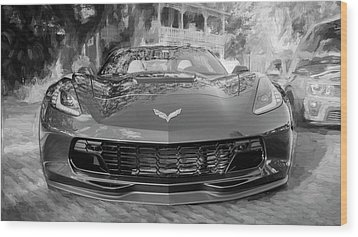 2017 Chevrolet Corvette Gran Sport Bw Wood Print by Rich Franco