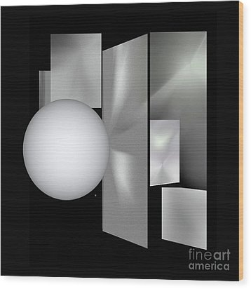 Wood Print featuring the digital art 1-2017 by John Krakora